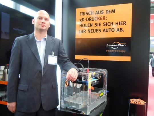 3D-Druck präsentation in der Fuhrparkforum Messe am Nürburgring