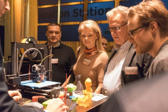 3D-Druck Commerzbank open:space CLUB live im Spindler&Klatt Berlin
