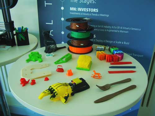 3D-Druck auf der Industry of things World in Berlin