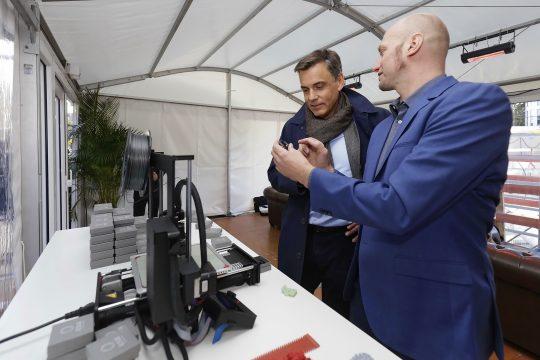 3D-Druck Baustelle am smartesten Gebäude Deutschlands