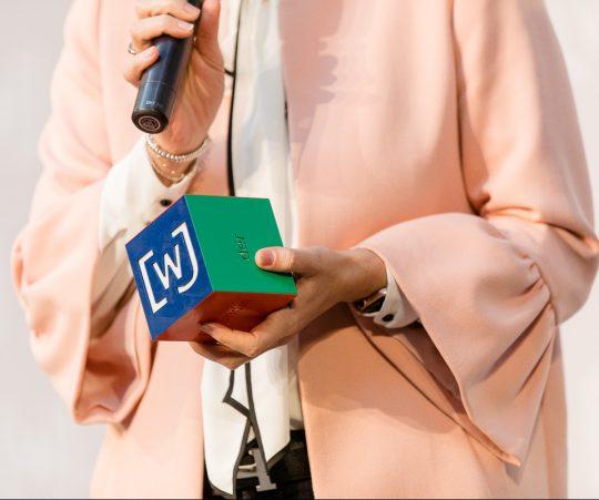 Druck eines Award-Würfels für die Wirtschaftsjunioren Deutschland (WJD)